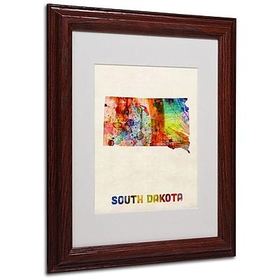 Trademark Fine Art 'South Dakota Map' 11