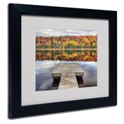 "Trademark Fine Art 'Autumn' 11"" x 14"" Black Frame Art"