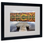 "Trademark Fine Art 'Autumn' 16"" x 20"" Black Frame Art"
