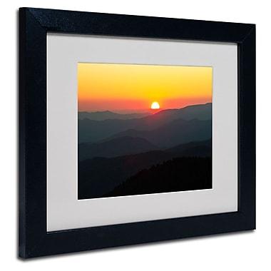 Trademark Fine Art 'Great Smoky Mountains Sunset'