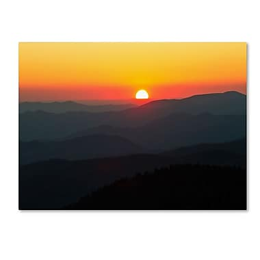 Trademark Fine Art 'Great Smoky Mountains Sunset' 22