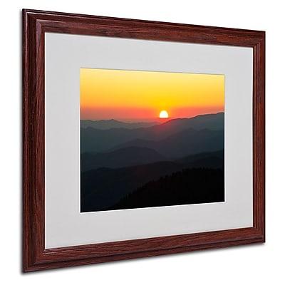 Trademark Fine Art 'Great Smoky Mountains Sunset' 16