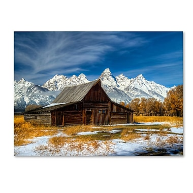 Trademark Fine Art 'Iconic Barn Grand Teton' 30