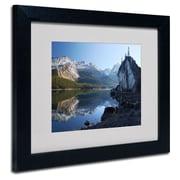 "Trademark Fine Art 'Jasper Maligne Lake' 11"" x 14"" Black Frame Art"