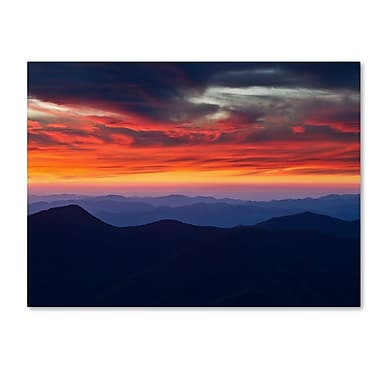 Trademark Fine Art 'Mount Mitchell Sunset' 18