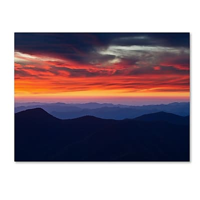 Trademark Fine Art 'Mount Mitchell Sunset' 30