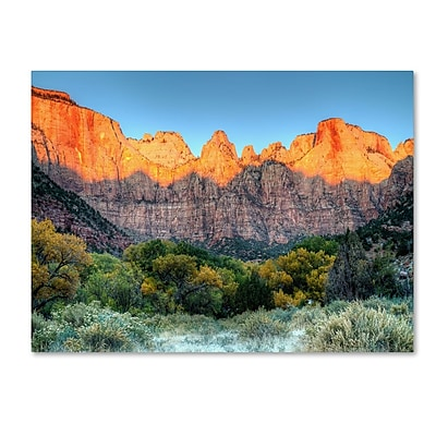 Trademark Fine Art 'Zion Sunrise' 30
