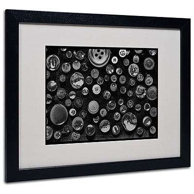 Trademark Fine Art 'Black & White Buttons' 16