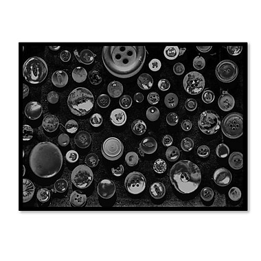 Trademark Fine Art 'Black & White Buttons' 30