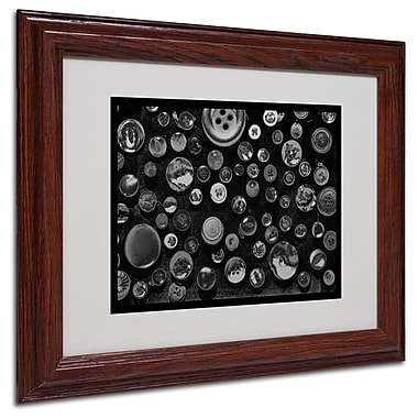 Trademark Fine Art 'Black & White Buttons' 11