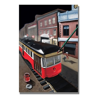 Trademark Fine Art 'Bourbon Street Trolley' 35