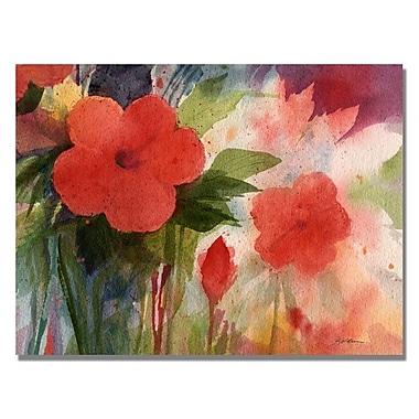Trademark Fine Art 'Red Blossoms' 24