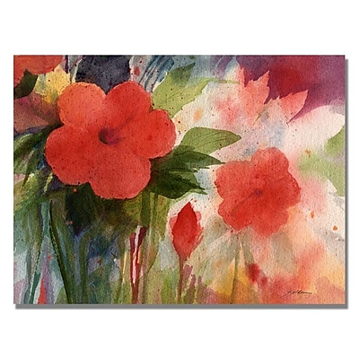 Trademark Fine Art 'Red Blossoms' 24