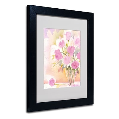 Trademark Fine Art 'Vase with Pink Roses' 11