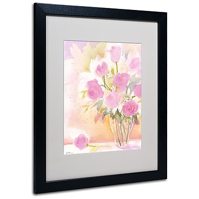 Trademark Fine Art 'Vase with Pink Roses' 16