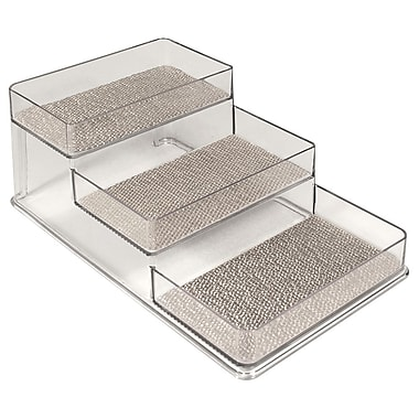 InterDesign® Woven Steel Wire Twillo Stadium Spice Rack 1, Metallico/Clear