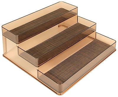 InterDesign® Woven Steel Wire Twillo Stadium Spice Rack 2, Bronze/Sand