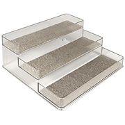 InterDesign® Woven Steel Wire Twillo Stadium Spice Rack 2, Metallico/Clear