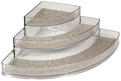 InterDesign® Woven Steel Wire Twillo Stadium Corner Spice Rack, Metallico/Clear