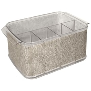 "InterDesign® Twillo Cutlery Caddy, 4.6""(H) x 8.2""(W) x 19.6""(D)"