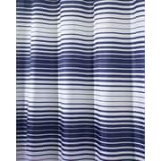 "InterDesign® 72"" x 72"" Enzo Polyester Shower Curtain, Navy Blue/White"