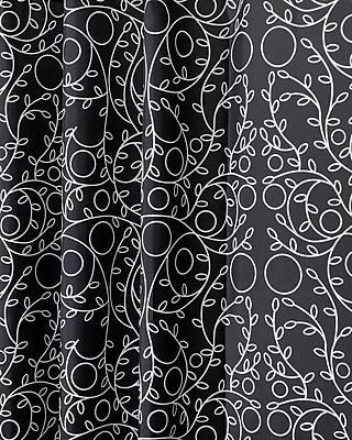 """InterDesign® 72"""" x 72"""" Twigz Polyester Shower Curtain, Black/White"""