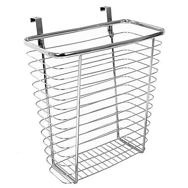 InterDesign® Axis Over The Cabinet Waste/Storage Basket, Silver