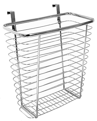 InterDesign® Axis Over The Cabinet Waste/Storage Basket, Silver