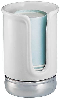 InterDesign York Ceramic Disposable Paper Cup Dispenser, White 326631
