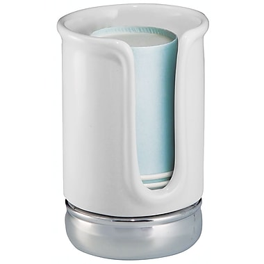 InterDesign® York Ceramic Disposable Paper Cup Dispenser, White