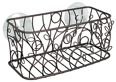 InterDesign® Twigz Suction Basket, Bronze