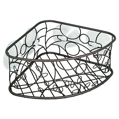 InterDesign® Twigz Suction Corner Basket, Bronze