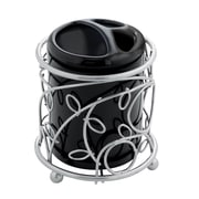 InterDesign® Elegant Twigz Toothbrush Holder, Silver/Black