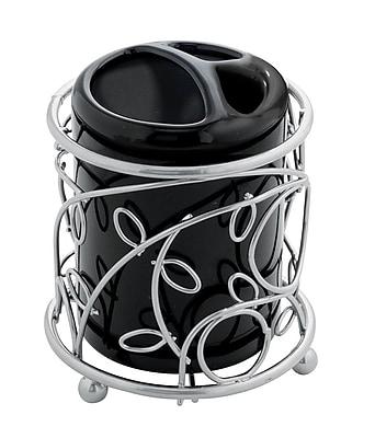 InterDesign® Elegant Twigz Toothbrush Holder, Silver/Black