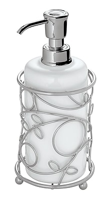 InterDesign® Twigz Soap Pump, Silver/White