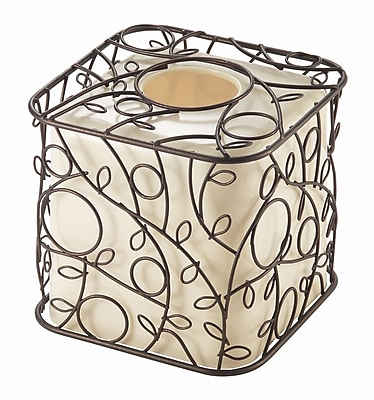 InterDesign® Twigz Boutique Box, Bronze/Vanilla