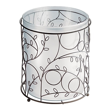 InterDesign® Twigz Waste Can, Bronze/Clear