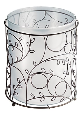 InterDesign® Twigz Waste Can, Bronze/Clear