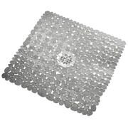 "InterDesign® 22"" x 22"" Pebblz Square Shower Mat, Clear"