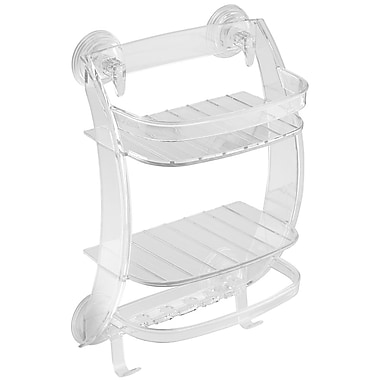 InterDesign® Power Lock Suction Shower Organizer, Clear