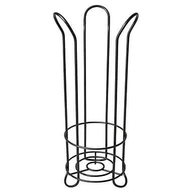 InterDesign® Tulip Toilet Tissue Roll Reserve Storage Rack, Bronze