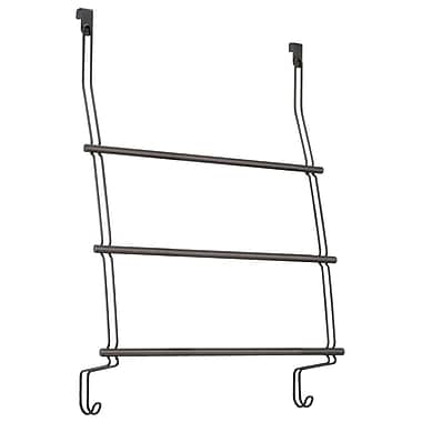 InterDesign® Classico Over the Shower Door Towel Rack, Bronze