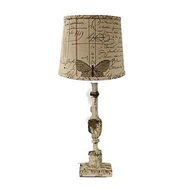 AHS Lighting Harlan Table Lamp With Antique Ledger Shade