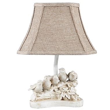 AHS Lighting Bird Chorus Accent Lamp With Tan Fabric Shade