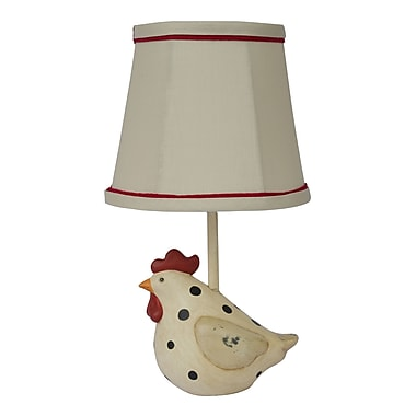 AHS Lighting Big Fat Hen Polka Dot Accent Lamp With Beige Fabric Shade
