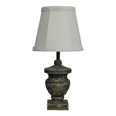 AHS Lighting Capri Classic Urn Accent Lamp With With Dark White Shade, Concrete