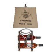 AHS Lighting Le Bon Vin Wine Rack Lamp With Burlap Shade