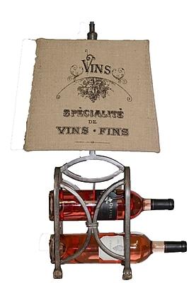 AHS Lighting Le Bon Vin Wine Rack Lamp With Burlap Shade