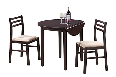 Monarch 3PC Padded Dining Set With a 36