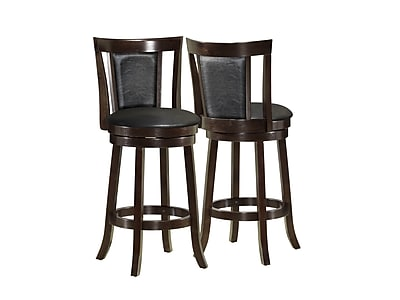 """""Monarch 39"""""""" Leather Swivel Counter Stool, Black"""""" 346320"